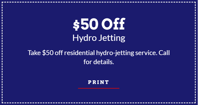 $50 Off Hydro Jetting Coupon